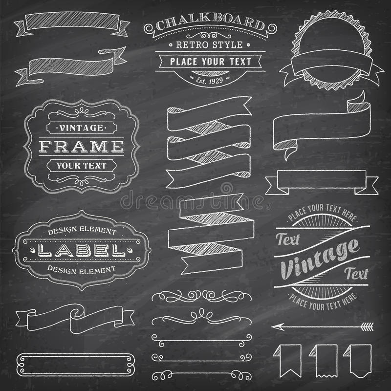 Grunge Vector Banners and Decorations stock illustration
