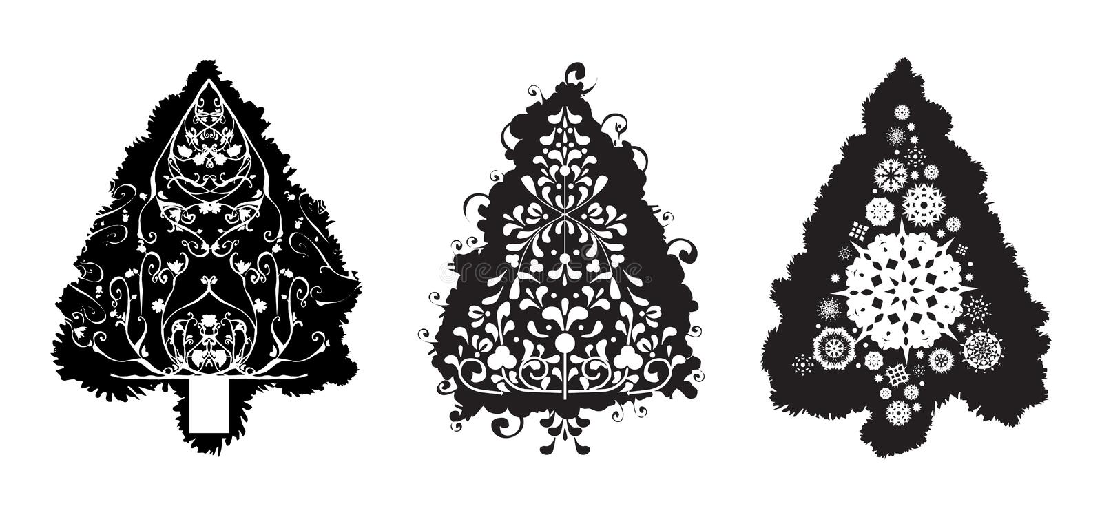 Download Grunge Vector Christmas Trees Stock Vector - Illustration: 3022402