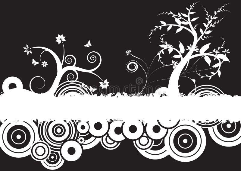 Grunge vector floral design royalty free illustration
