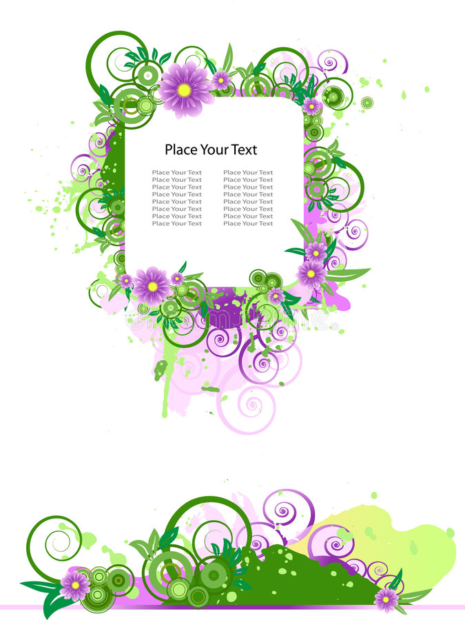 Download Grunge Vector Floral Design. Stock Vector - Image: 8694447