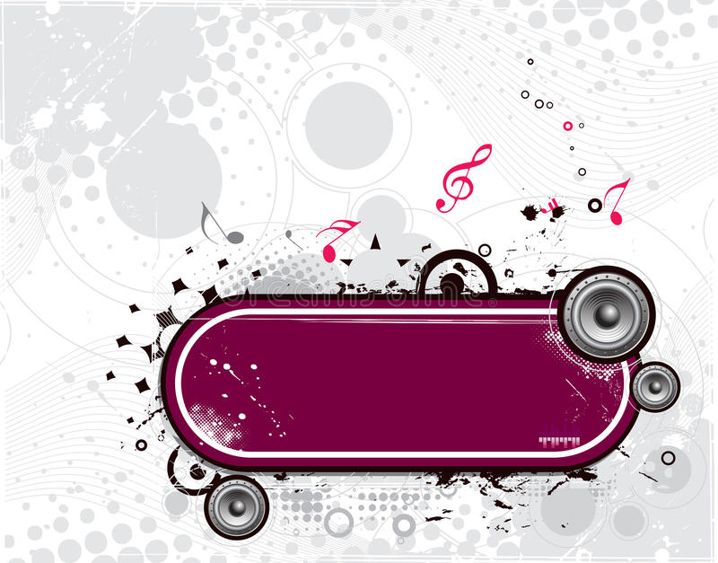 Grunge vector music composition vector illustration