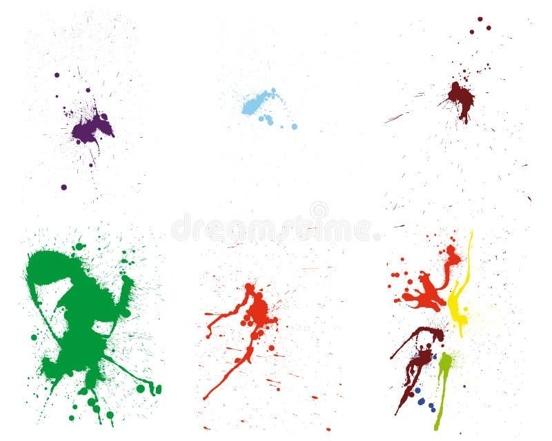 Grunge vector pattern set stock image