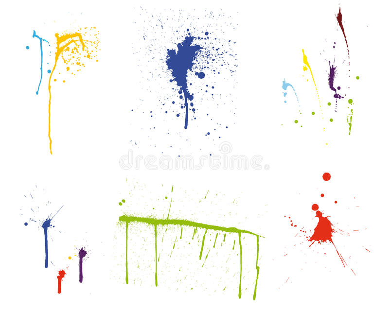 Grunge vector pattern set royalty free stock images