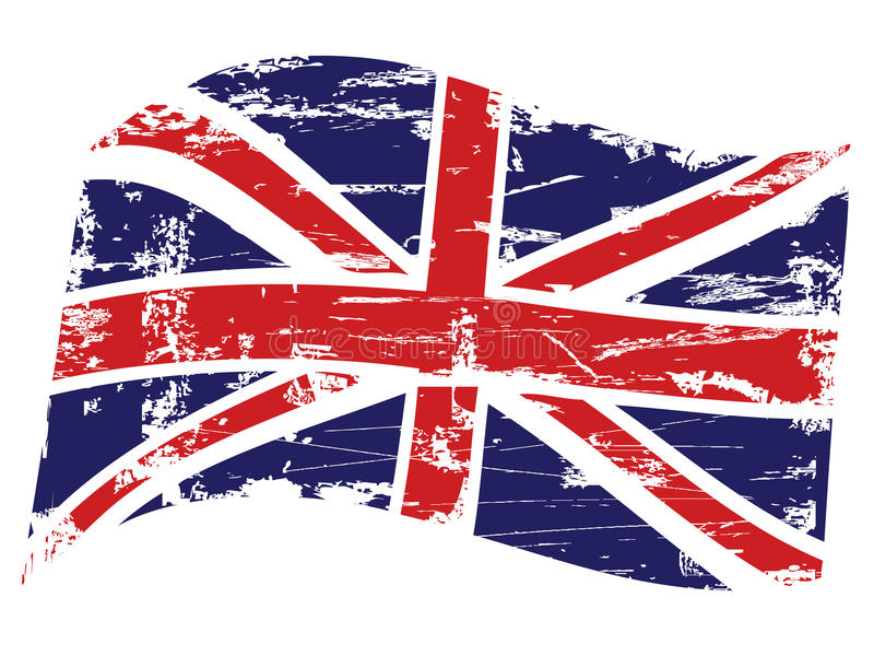 Grunge Vereinigtes Königreich Markierungsfahne stock abbildung