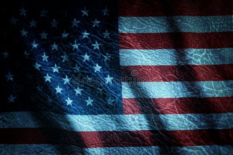 Grunge Verenigde nationale de vlagachtergrond van de Staat stock foto's