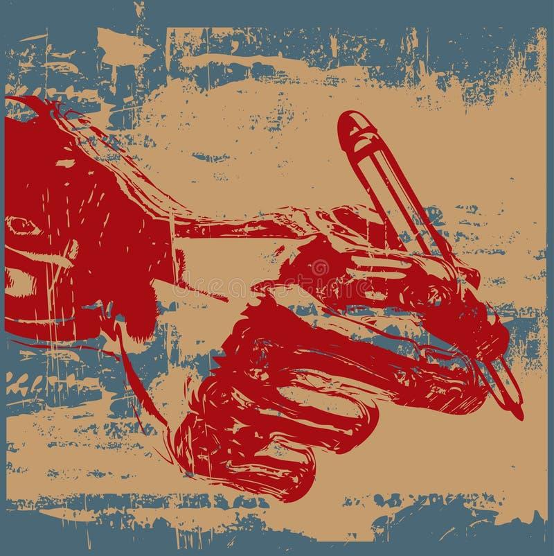 Download Grunge Verfasser vektor abbildung. Illustration von symbol - 9089336
