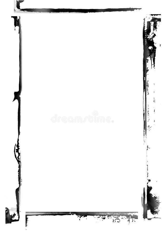 Grunge verouderde grens vector illustratie