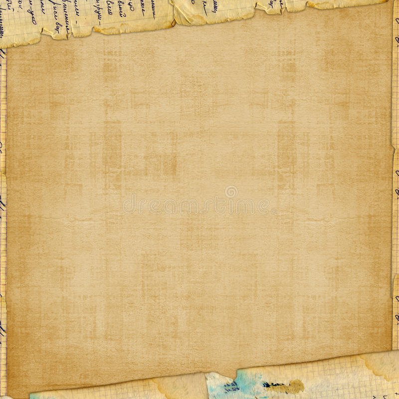 Grunge vervreemd document ontwerp stock illustratie