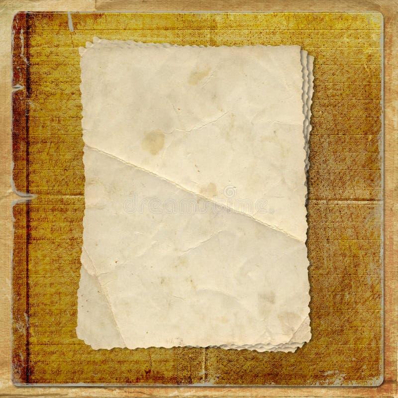 Grunge vervreemde kaart van oud document vector illustratie
