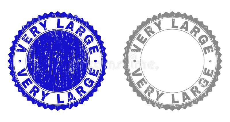 Grunge VERY LARGE Scratched Stamp Seals vector illustration