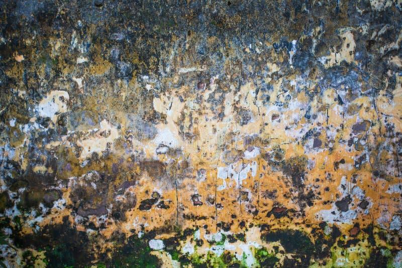 Grunge, viejo, oxidado, sucio fondo colorido de la textura de la pared fotografía de archivo
