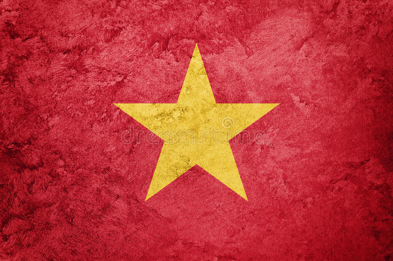 Grunge Vietnam flag. Vietnam flag with grunge texture. Grunge flag royalty free stock photography