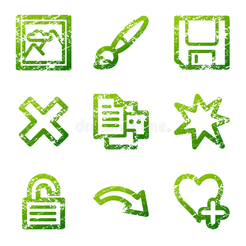 Download Grunge Viewer 2 Contour Icons Stock Vector - Image: 4778758