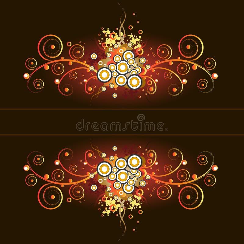 Grunge&vintage calligraphic floral frame. vector illustration