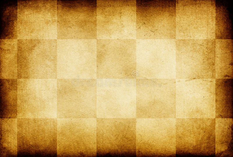 Grunge vintage chess ornamented old paper. stock illustration