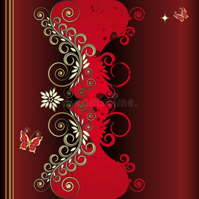 Grunge vintage floral background stock image