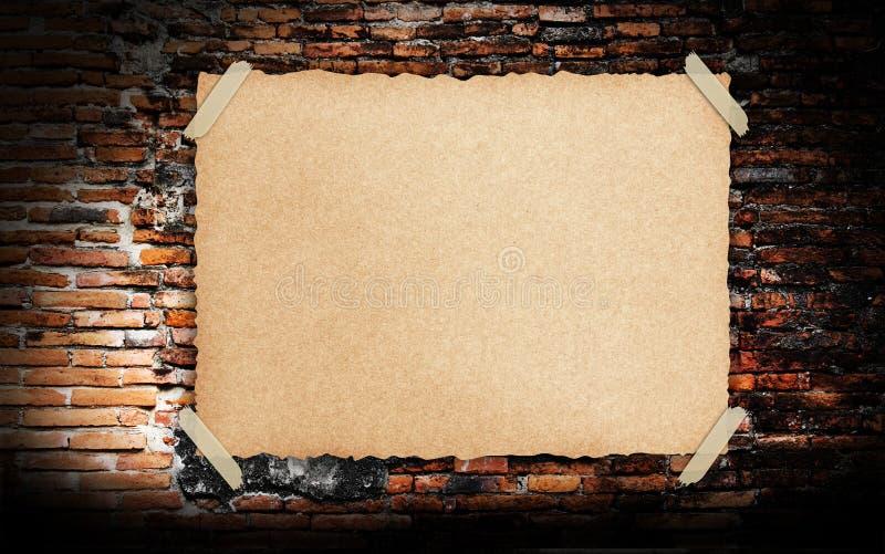 Download Grunge Vintage Old Brown Paper On Brickwall Stock Image - Image: 21516125
