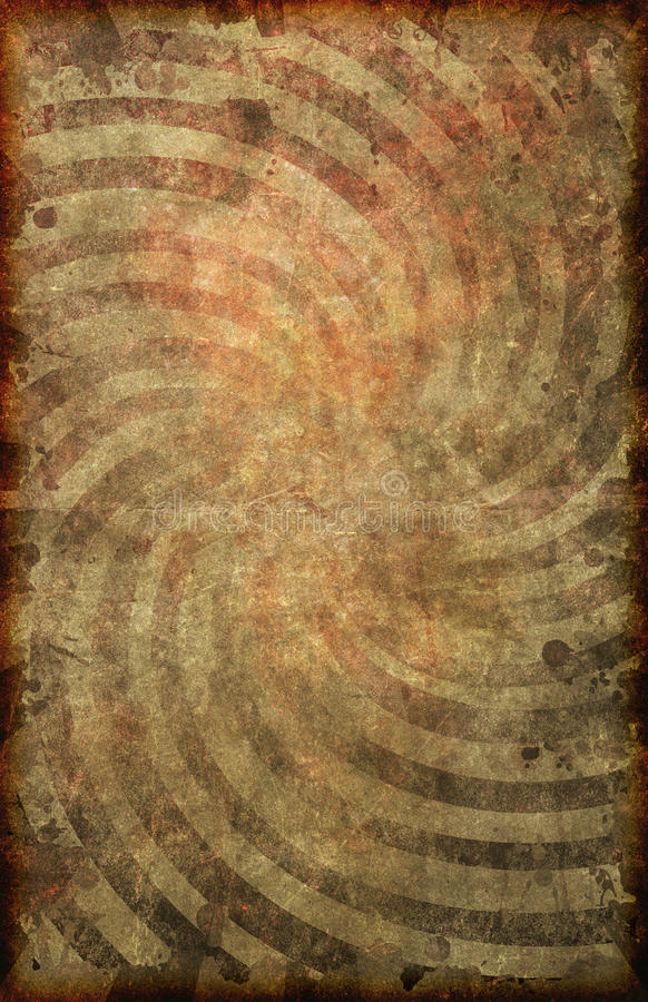 Grunge Vintage Paper Swirl Pattern Poster Background. A grunge style vintage looking and faded poster background with swirl pattern on old paper texture 11X17 royalty free illustration