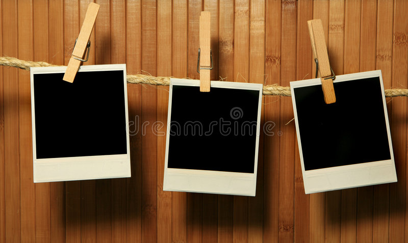 Grunge Vintage Polaroid Frames royalty free stock images