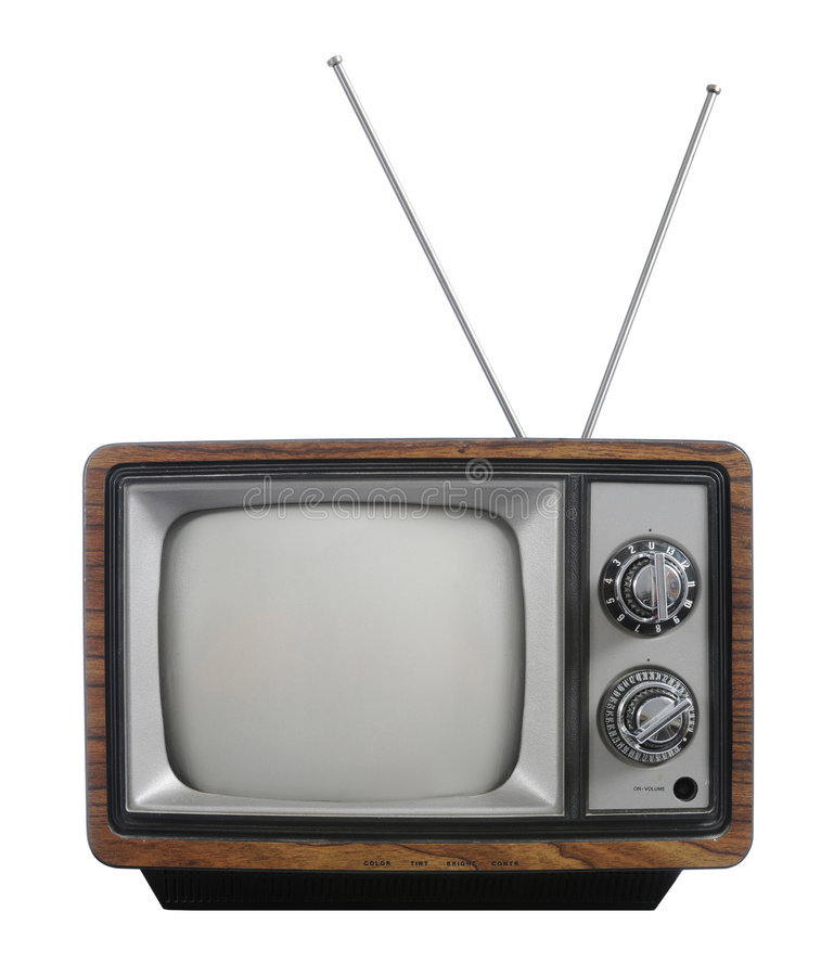 Grunge vintage television royalty free stock images