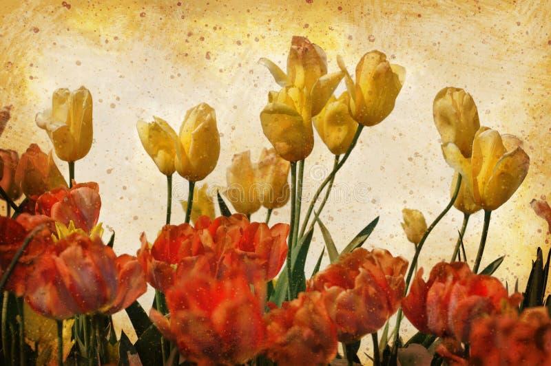 Grunge Vintage Tulips royalty free stock photos