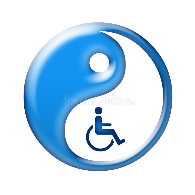 Yin yang symbol represent oriental medicine royalty free illustration