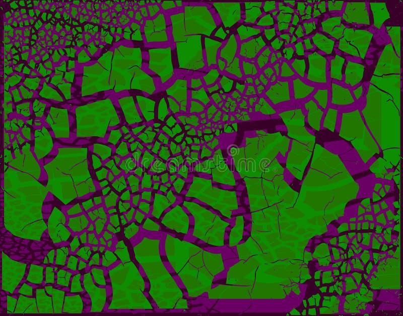 Grunge viola verde illustrazione vettoriale