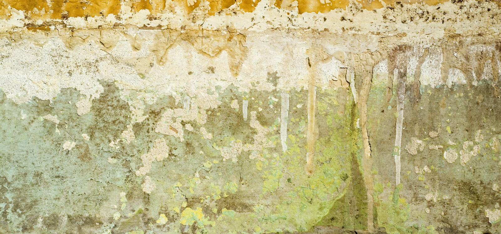 Grunge wall. Dirty grunge wall in house stock images