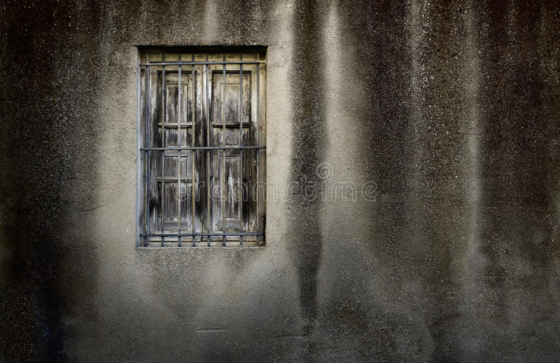 Download Grunge wall with window stock photo. Image of broken - 24996192