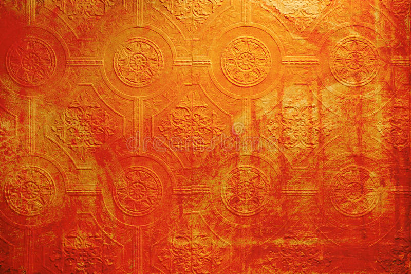 Grunge wallpaper red. Photo of a section of old grungy wallpaper with damage and decay royalty free stock images