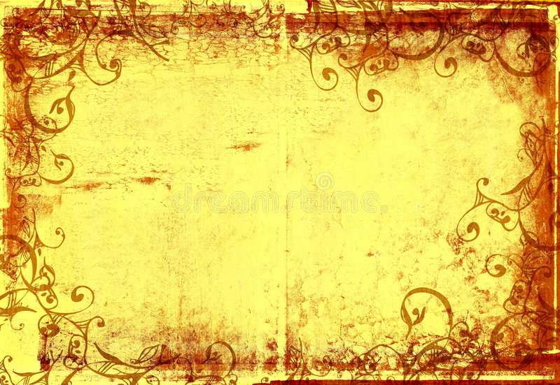 Grunge warm photographic frame royalty free illustration