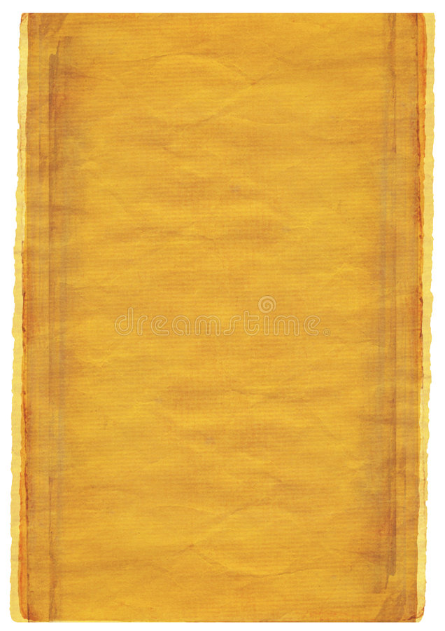 grunge warm yellow background with torn edges royalty free illustration