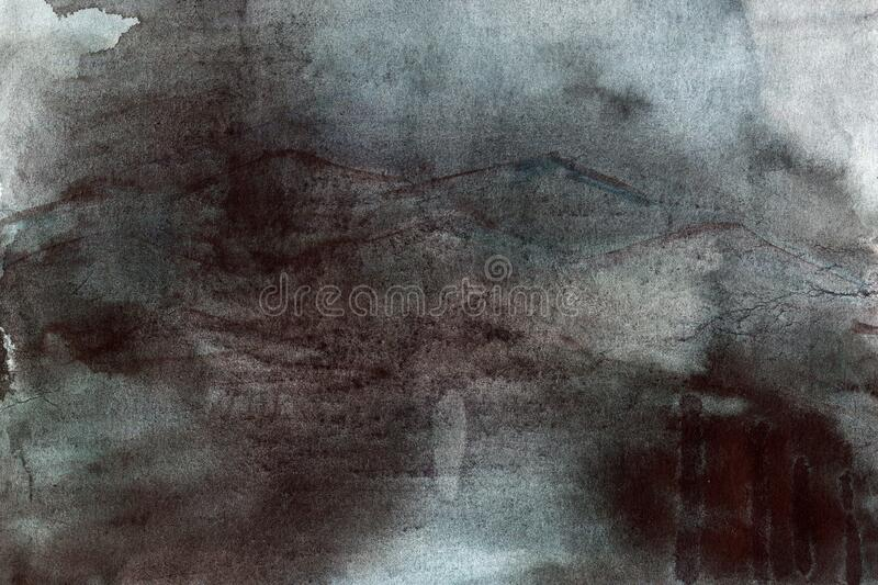 Grunge watercolor texture in dark tones abstract style royalty free stock photos