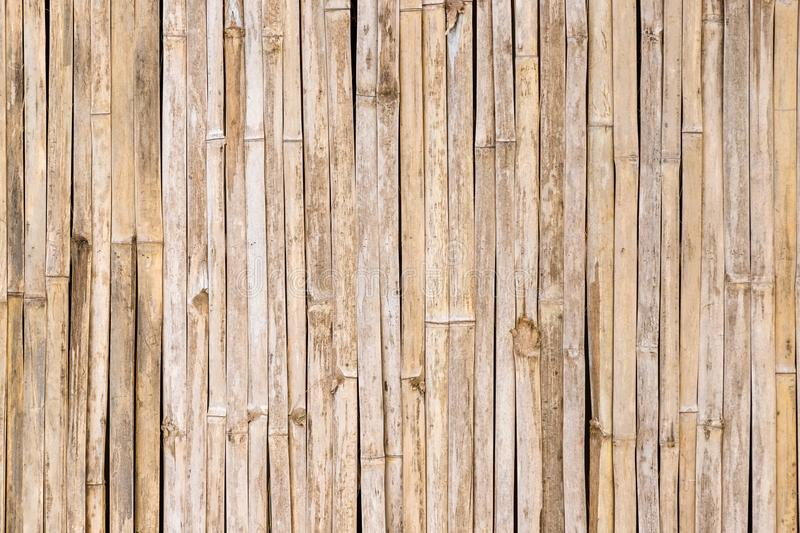Grunge and weathered traditional exotic bamboo wall background stock image