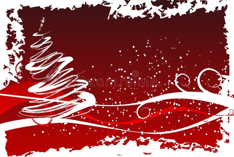 Grunge Weihnachtsbaum lizenzfreie abbildung