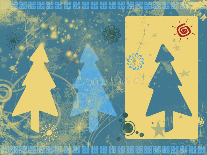 Grunge Weihnachtshintergrund lizenzfreie abbildung