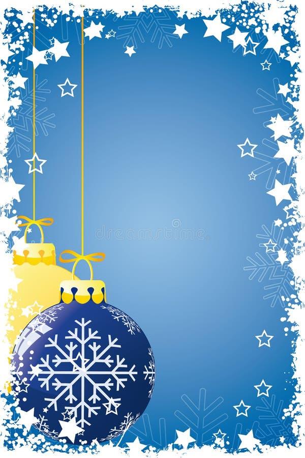 Grunge Weihnachtskugeln stock abbildung