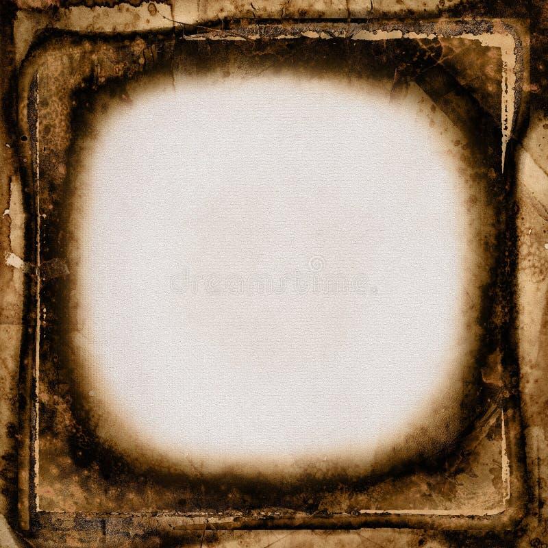 Grunge Weinlese-Fotofeld lizenzfreie stockfotografie