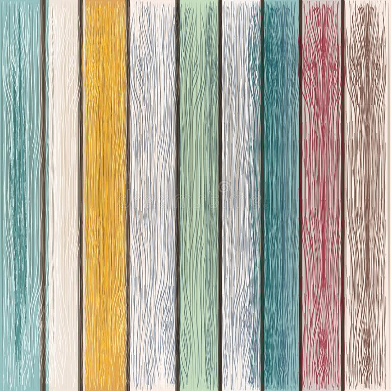 Grunge wektorowa drewniana tekstura od malującego drewna, retro styl ilustracji