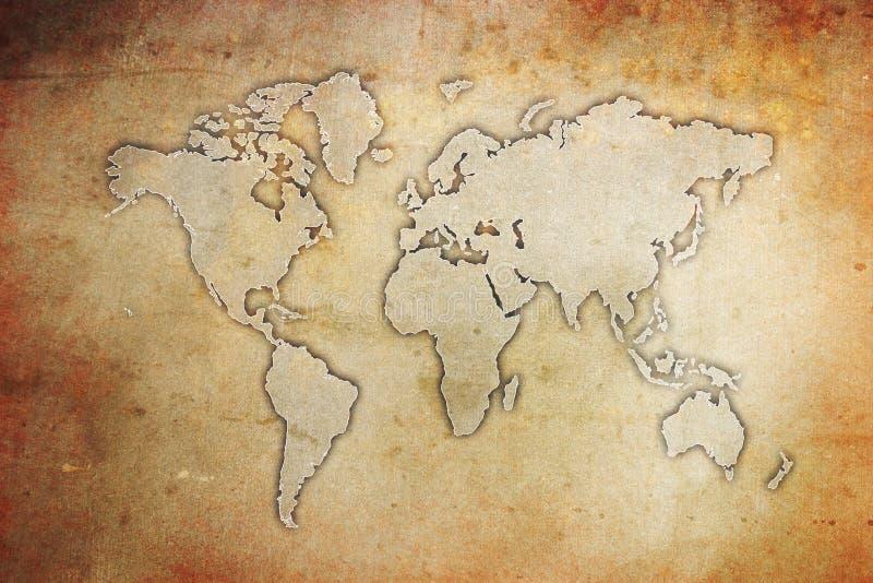 Grunge Weltkarte stock abbildung