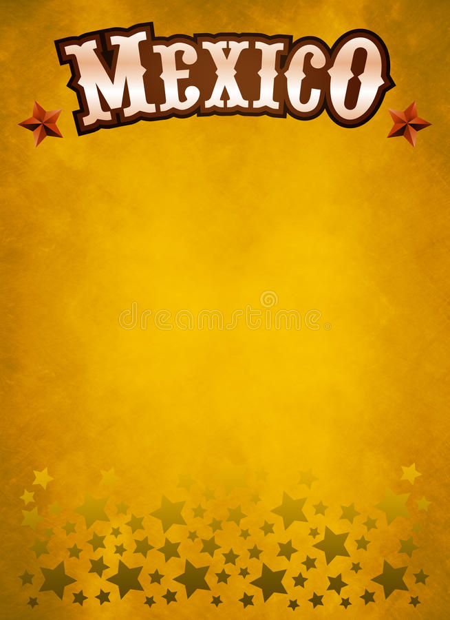 Grunge westelijke affiche - de Mexicaanse kaart van de cowboystijl vector illustratie