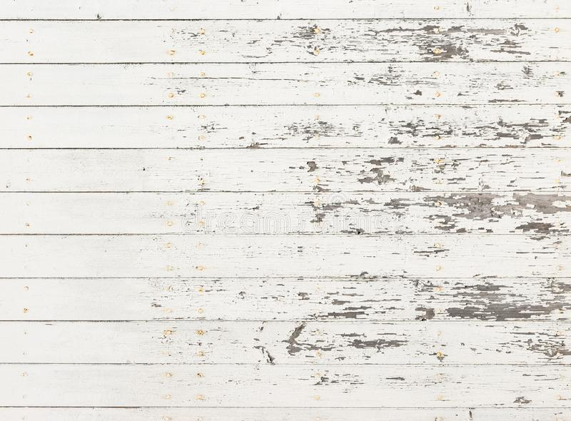 Grunge white wood with worn surface, background texture royalty free stock image
