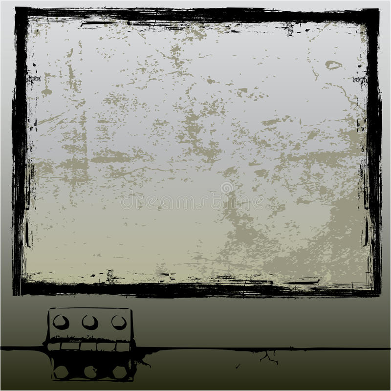 Grunge Window. Background grunge illustration based on a window royalty free illustration