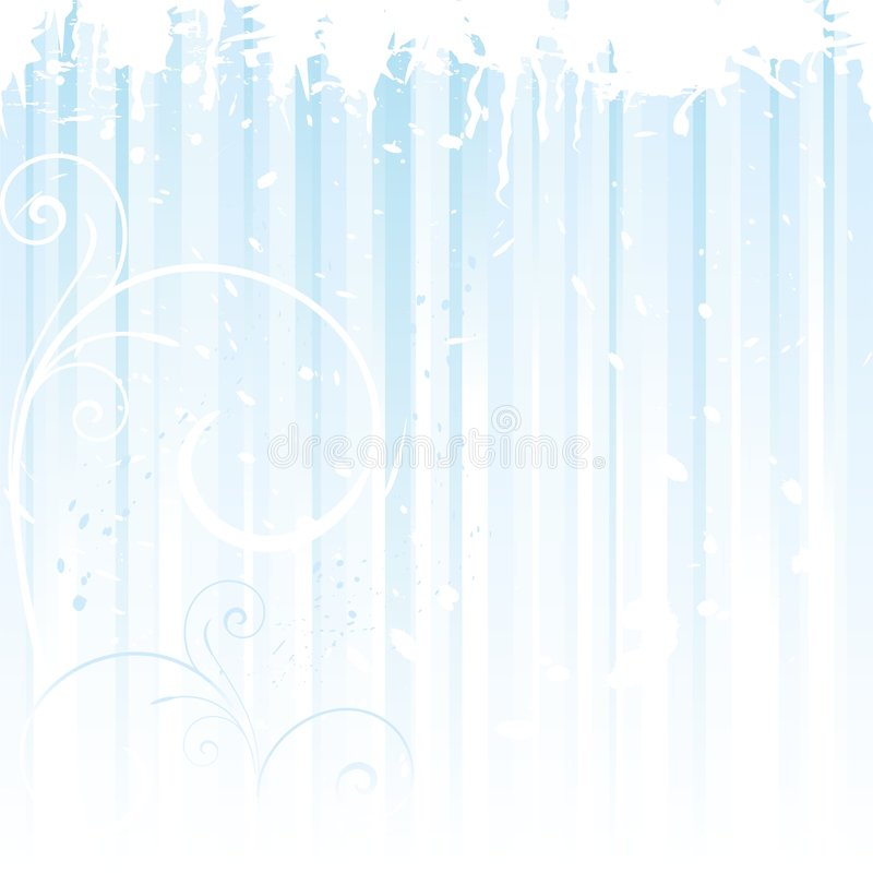 Free Grunge Winter Background In Light Blue Royalty Free Stock Image - 6654566