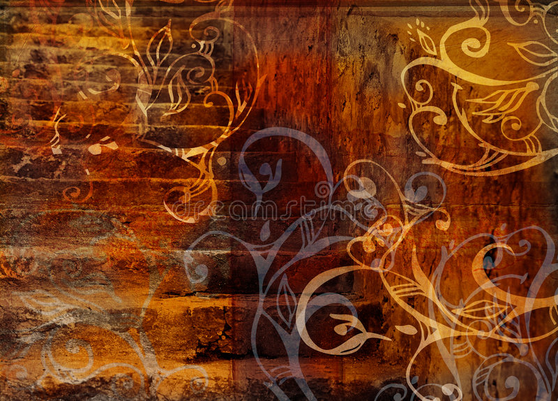 Grunge wirbelt Treppehintergrund stock abbildung