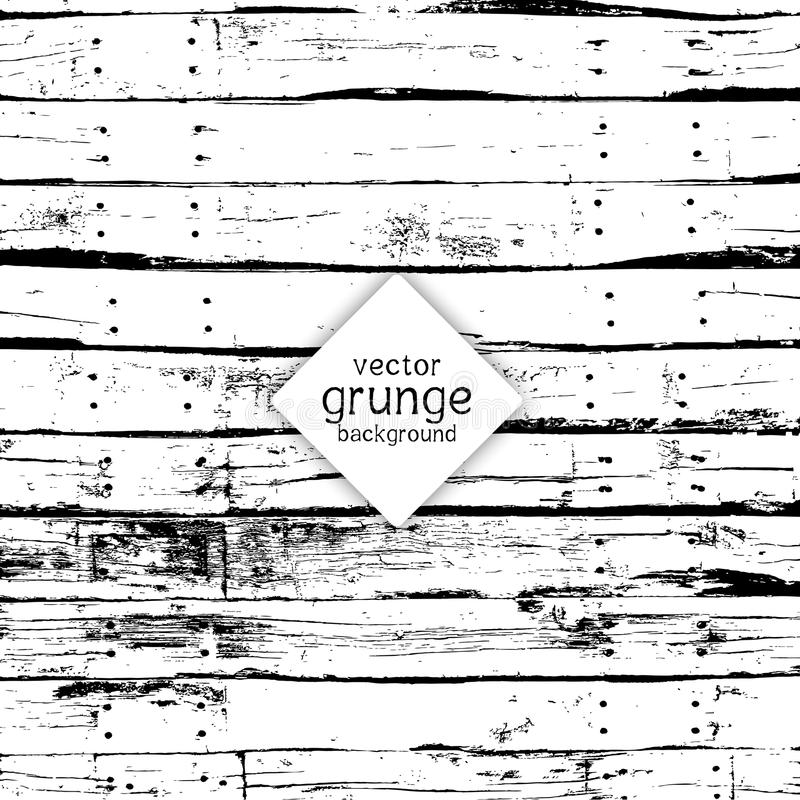 Grunge wood background. Grunge style background with an old wood texture royalty free illustration