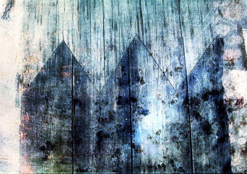 Grunge wooden texture stock illustration
