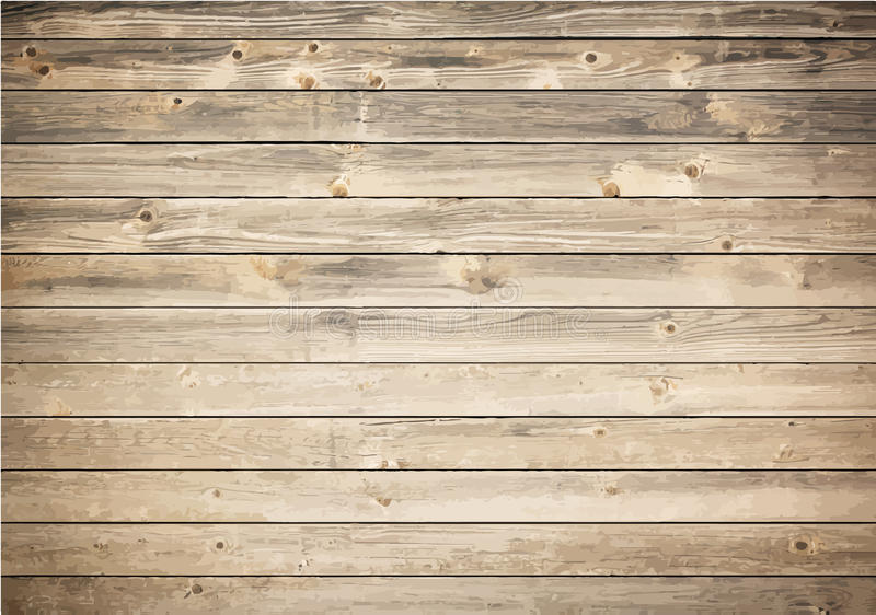 Grunge wooden texture with horizontal planks stock vector