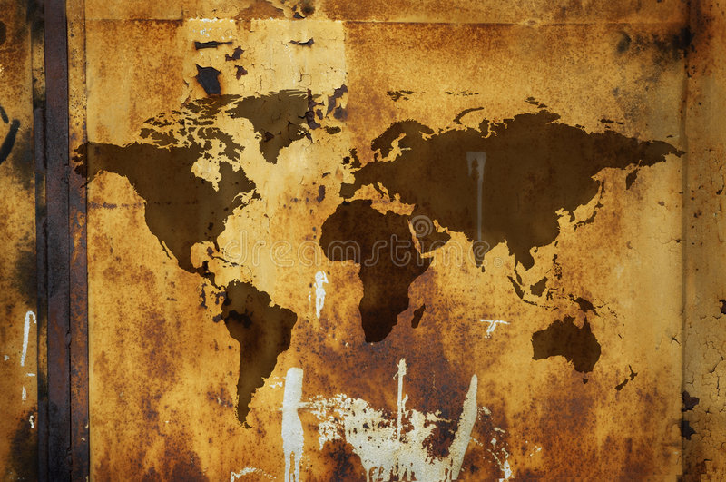 Grunge world map royalty free stock images