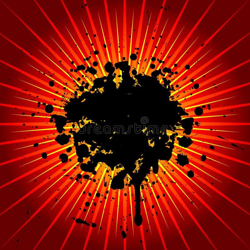 grunge wybuchu, ilustracji
